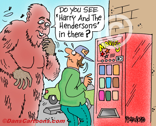 Bigfoot Cartoon 01 a Cartoon Image and funny joke for license by Dan Rosandich