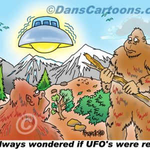 Bigfoot Cartoon 04 a Cartoon Image and funny joke for license by Dan Rosandich
