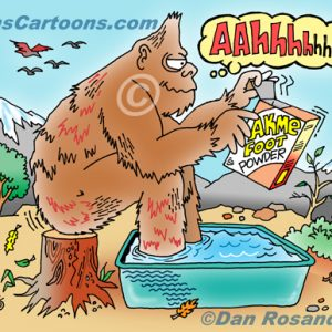 Bigfoot Cartoon 06 a Cartoon Image and funny joke for license by Dan Rosandich