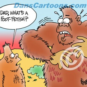 Bigfoot Cartoon 08 a Cartoon Image and funny joke for license by Dan Rosandich