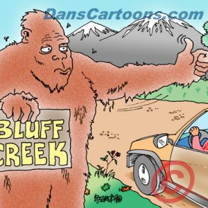 Bigfoot Cartoon 10 a Cartoon Image and funny joke for license by Dan Rosandich