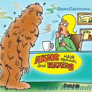 Bigfoot Cartoon 13 a Cartoon Image and funny joke for license by Dan Rosandich