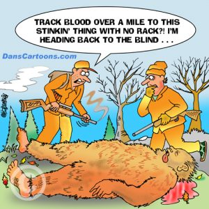 Bigfoot Cartoon 14 a Cartoon Image and funny joke for license by Dan Rosandich