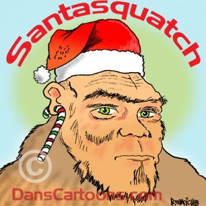 Bigfoot Cartoon 16 a Cartoon Image and funny joke for license by Dan Rosandich