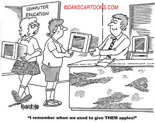 Computer Cartoon 328 a Cartoon Image and funny joke for license by Dan Rosandich