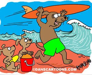 Dog Cartoon 113 a Cartoon Image and funny joke for license by Dan Rosandich