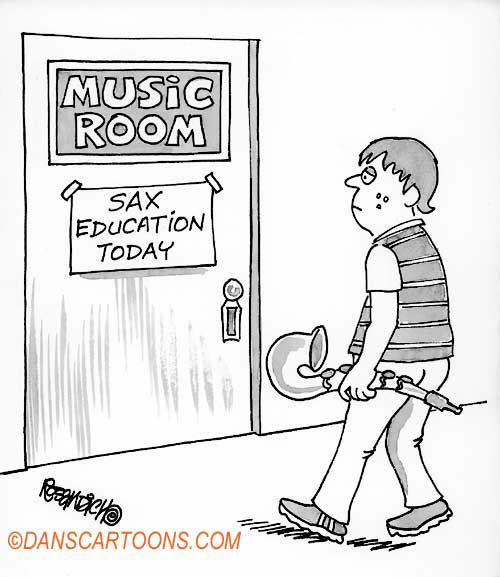 Education School Cartoon 002 a Cartoon Image and funny joke for license by Dan Rosandich