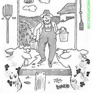 Farm Agriculture Cartoon 006 a Cartoon Image and funny joke for license by Dan Rosandich