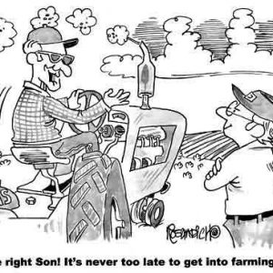 Farm Agriculture Cartoon 150 a Cartoon Image and funny joke for license by Dan Rosandich