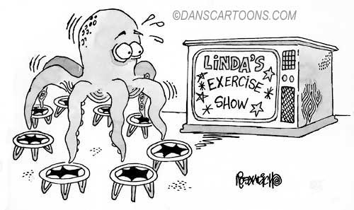 Health Exercise Cartoon 21 a Cartoon Image and funny joke for license by Dan Rosandich
