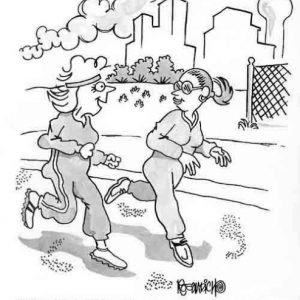 Health Exercise Cartoon 23 a Cartoon Image and funny joke for license by Dan Rosandich