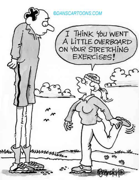 Health Exercise Cartoon 42 a Cartoon Image and funny joke for license by Dan Rosandich