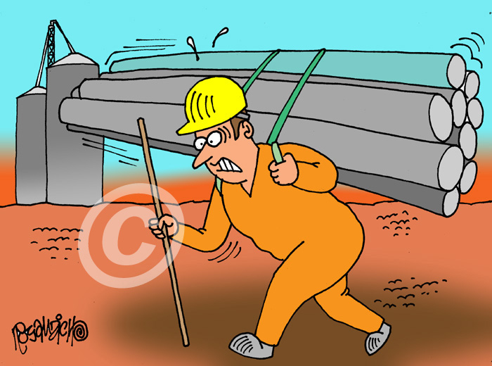 Industry Cartoon 15 a Cartoon Image and funny joke for license by Dan Rosandich