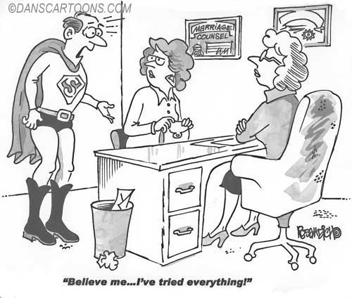 Marraige Counsel Divorce Cartoon 01 a Cartoon Image and funny joke for license by Dan Rosandich