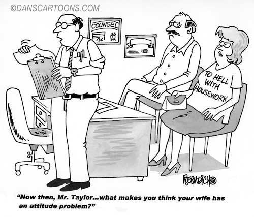 Marraige Counsel Divorce Cartoon 03 a Cartoon Image and funny joke for license by Dan Rosandich
