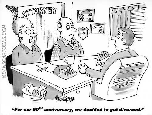 Marraige Counsel Divorce Cartoon 04 a Cartoon Image and funny joke for license by Dan Rosandich