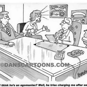 Marraige Counsel Divorce Cartoon 05 a Cartoon Image and funny joke for license by Dan Rosandich