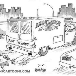 paramedic ambulance cartoon