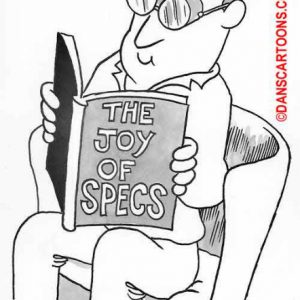 Ophthalmology Optometry Cartoon 01 a Cartoon Image and funny joke for license by Dan Rosandich