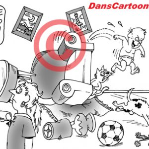 Pediatrician Cartoon 002 a Cartoon Image and funny joke for license by Dan Rosandich