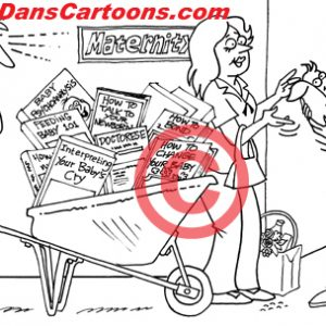 Pediatrician Cartoon 009 a Cartoon Image and funny joke for license by Dan Rosandich