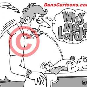 Pediatrician Cartoon 015 a Cartoon Image and funny joke for license by Dan Rosandich