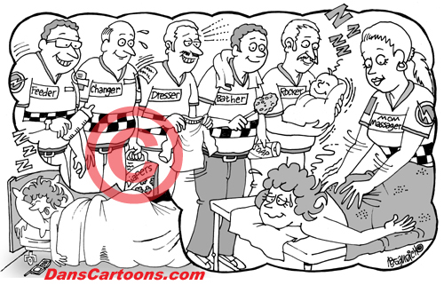 Pediatrician Cartoon 021 a Cartoon Image and funny joke for license by Dan Rosandich