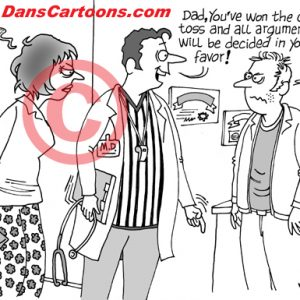 Pediatrician Cartoon 022 a Cartoon Image and funny joke for license by Dan Rosandich