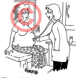Pediatrician Cartoon 043 a Cartoon Image and funny joke for license by Dan Rosandich
