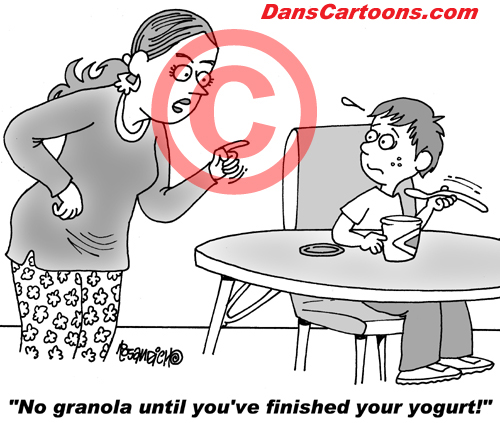 Pediatrician Cartoon 065 a Cartoon Image and funny joke for license by Dan Rosandich