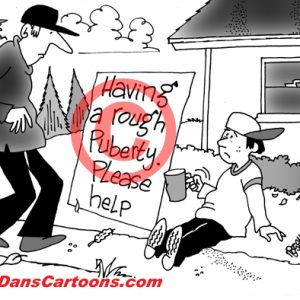 Pediatrician Cartoon 069 a Cartoon Image and funny joke for license by Dan Rosandich