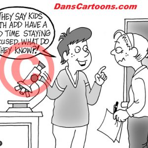 Pediatrician Cartoon 074 a Cartoon Image and funny joke for license by Dan Rosandich