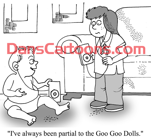 Pediatrician Cartoon 084 a Cartoon Image and funny joke for license by Dan Rosandich