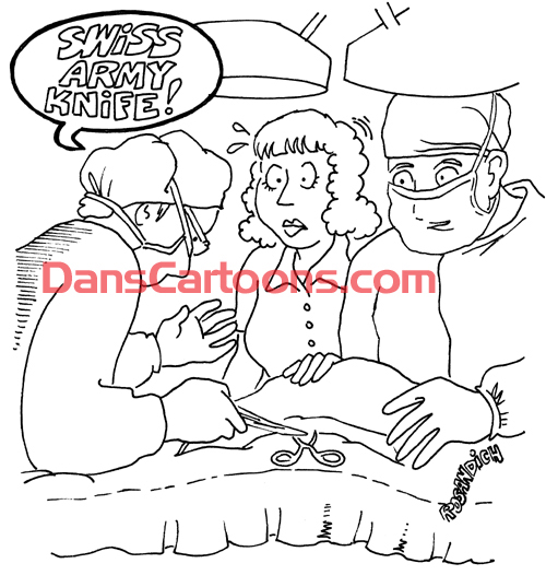 Pediatrician Cartoon 094 a Cartoon Image and funny joke for license by Dan Rosandich