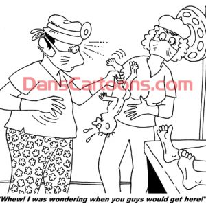 Pediatrician Cartoon 097 a Cartoon Image and funny joke for license by Dan Rosandich