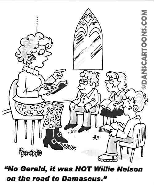 Religion Church Cartoon 91 a Cartoon Image and funny joke for license by Dan Rosandich