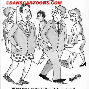 Business cartoon about dressing stylish