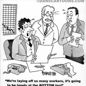 Business Cartoon business cartoon about laying off workers
