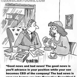 cartoon about executive recruitment