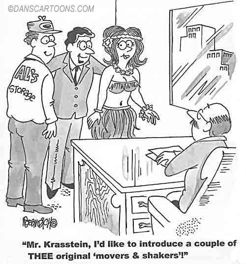 Business Cartoon Biz 031   a Cartoon Image and funny joke for license by Dan Rosandich