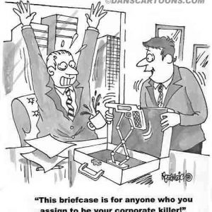 Business Cartoon Biz 070   a Cartoon Image and funny joke for license by Dan Rosandich