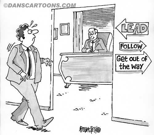 Business Cartoon Biz 125   a Cartoon Image and funny joke for license by Dan Rosandich