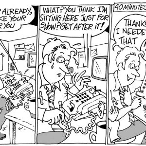 Telemarketer Comic Strip 2  a Cartoon comic strip for license by Dan Rosandich