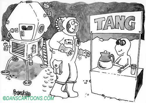 UFO Alien Cartoon 06    a Cartoon Image and funny joke in the genre of extraterrestrial and UFO's. Images for license by Dan Rosandich