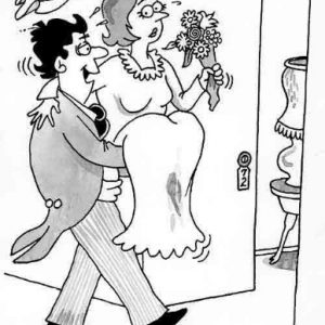 Wedding Marraige Cartoon 01    a Cartoon Image and funny joke in the genre of marriage. Images for license by Dan Rosandich