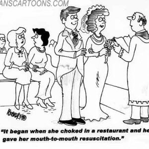 Wedding Marraige Cartoon 05    a Cartoon Image and funny joke in the genre of marriage. Images for license by Dan Rosandich