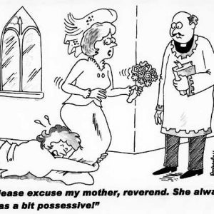 Wedding Marraige Cartoon 06    a Cartoon Image and funny joke in the genre of marriage. Images for license by Dan Rosandich