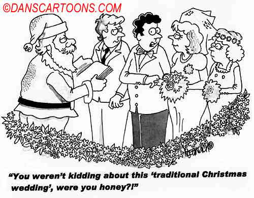 Wedding Marraige Cartoon 08    a Cartoon Image and funny joke in the genre of marriage. Images for license by Dan Rosandich