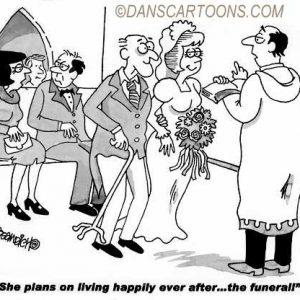 Wedding Marraige Cartoon 11    a Cartoon Image and funny joke in the genre of marriage. Images for license by Dan Rosandich