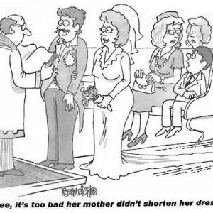 Wedding Marraige Cartoon 15    a Cartoon Image and funny joke in the genre of marriage. Images for license by Dan Rosandich